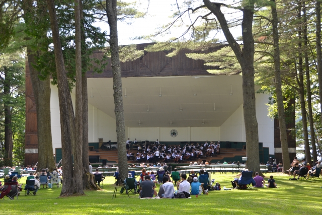 Afternoon concert at the Bowl in the Pines